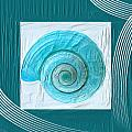 Turquoise Seashells XVII Print by Lourry Legarde