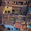 Tuscan Rooftops Print by Inge Johnsson