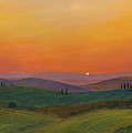 Tuscan Twilight 1 Print by Cecilia  Brendel