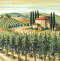 Tuscan Vineyard and Villa Print by Marilyn Dunlap