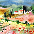 Tuscany Landscape 02 Poster by Miki De Goodaboom