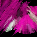 TuTu Stage Left Abstract Fuchsia Print by Andee Design