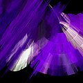 TuTu Stage Left Abstract Purple Poster by Andee Photography