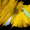 TuTu Stage Left Abstract Yellow Poster by Andee Photography