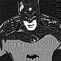 TV Batman Adam West and Quotes Print by Tony Rubino