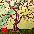Twisted Tree and Roses Poster by Janis  Tafoya