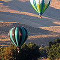 Two Balloons in Morning Sunshine Print by Carol Groenen
