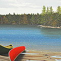 Two Canoes Poster by Kenneth M  Kirsch