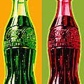 Two Coke Bottles Poster by Gary Grayson