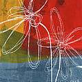 Two Flowers Poster by Linda Woods