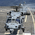 Two Mh-60s Sea Hawk Helicopters Take Print by Stocktrek Images