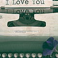 Typewriter Love Poster by Nomad Art And  Design