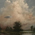 UFO's - A Scouting Party Print by Tom Shropshire
