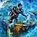 Under Water Poster by Leonid Afremov