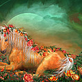 Unicorn Of The Roses Poster by Carol Cavalaris
