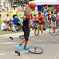 Unicyclist - Basketball - Street rules  Print by Mike Savad