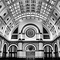 Union Station Lobby Black and White Print by Kristin Elmquist