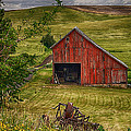 Unique Barn in the Palouse Poster by Priscilla Burgers