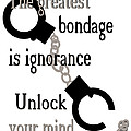 Unlock Your Mind Poster by Pharris Art