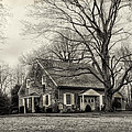 Upper Dublin Meetinghouse in Sepia Print by Bill Cannon