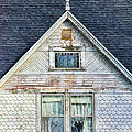 Upstairs Windows in Old House Print by Jill Battaglia