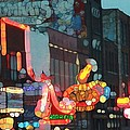 Urban Abstract Nashville Neon Print by Dan Sproul