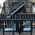 Urban Fabric - Fire Escape Stairs - 5D20592 Poster by Wingsdomain Art and Photography