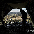 U.s. Air Force Airman Pushes Poster by Stocktrek Images