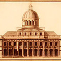 U.S. Capitol Design 1791 Print by Mountain Dreams