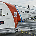 US Coast Guard Helicopter Poster by Paul Ward