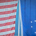 US Flag and Conch Republic Flag Key West  - Panoramic - HDR Style Poster by Ian Monk