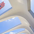 U.S.  Flag at the USS Arizona Memorial Poster by Diane Diederich