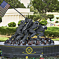 US Marine Corps War Memorial Print by Ricky Barnard