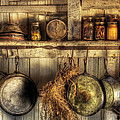 Utensils - Old country kitchen Print by Mike Savad