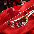 Valentine's day dinner Print by Mythja  Photography