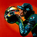 Valentino Rossi portrait Print by Paul  Meijering