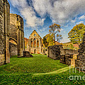 Valle Crucis Abbey Ruins Print by Adrian Evans