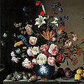 Vase of Flowers by a Window Poster by Balthasar Van Der Ast