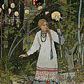 Vassilissa in the Forest Print by Ivan Bilibin