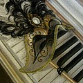 Venetian mask on Piano  Poster by Gea Scheltinga
