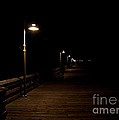 Ventura Pier at Night Poster by John Daly