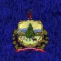 Vermont Flag Print by World Art Prints And Designs