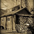 Vermont Maple Sugar Shack circa 1954 Poster by Edward Fielding