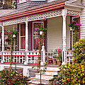 Victorian - Belvidere NJ - The beauty of Spring  Print by Mike Savad