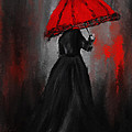 Victorian Lady With Parasol Poster by Lourry Legarde