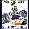 VICTORY GIRLS of W W 1     1918 Poster by Daniel Hagerman