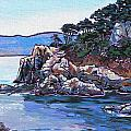 View from Point Lobos Print by Nadi Spencer