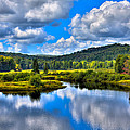 View from the Green Bridge in Old Forge NY Print by David Patterson