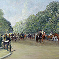 View of Hyde Park with Figures on Rotten Row  Print by Albert Jnr Ludovici