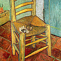 Vincent's Chair 1888 Print by Vincent van Gogh